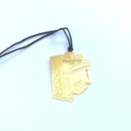 Marque page piano droit doré