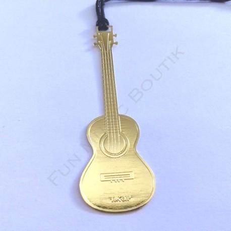 Marque page ukulele doré