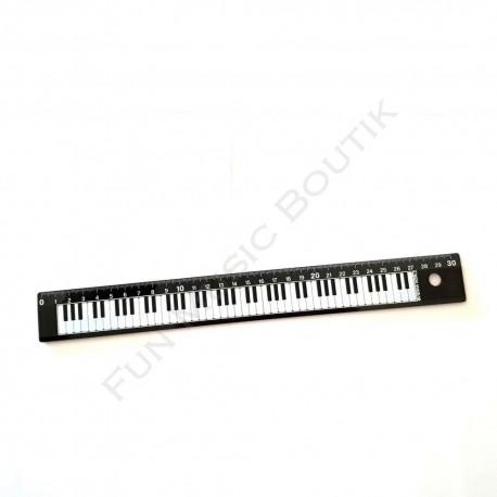 Règle 30 cm noire clavier de piano