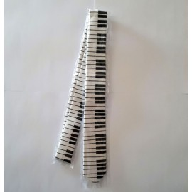 Cravate clavier de piano
