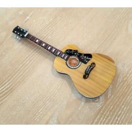 Guitare électro acoustique jaune à poser