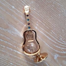 Guitare dorée miniature Crystocraft