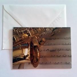 Carte de vœux Saxophone