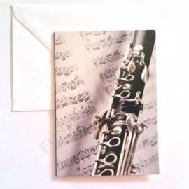 Carte de vœux Clarinette