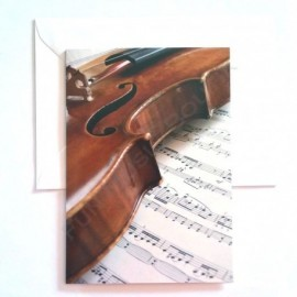 Carte de vœux Violon