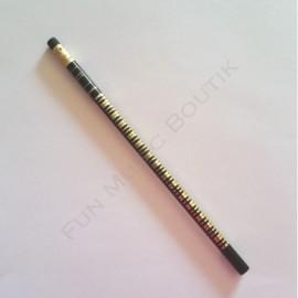 Crayon gris clavier piano Noir doré avec gomme