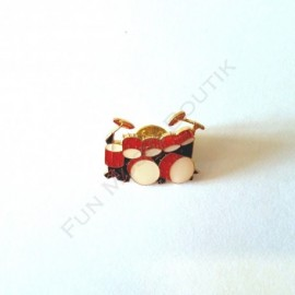 Pins batterie rouge miniature