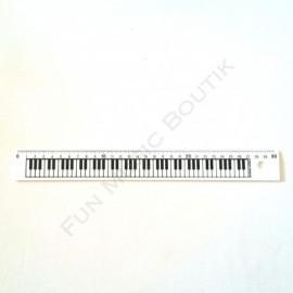 Règle 30 cm blanche clavier de piano