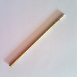 Crayon gris clavier de piano doré avec gomme