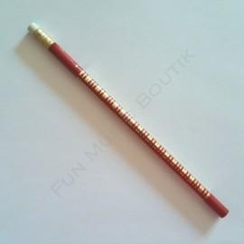 Crayon gris clavier piano rouge doré avec gomme
