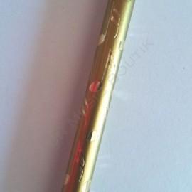 Crayon gris note double croche doré avec gomme