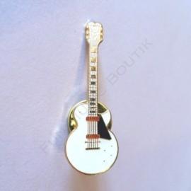 Pins guitare électrique blanche miniature