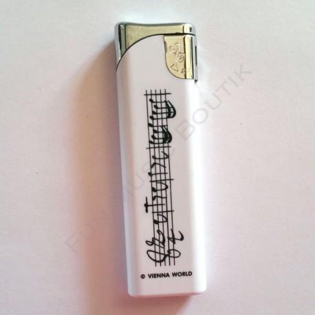 Briquet blanc notes de musique
