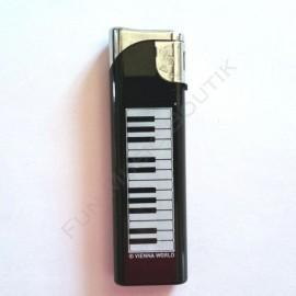 Briquet noir clavier de piano