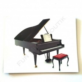 Tapis de souris motif piano a queue