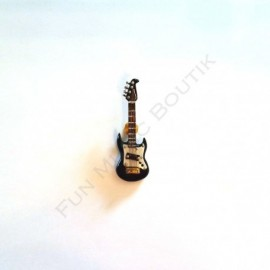 Pins guitare électrique noire miniature