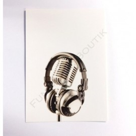 Carte postale microphone