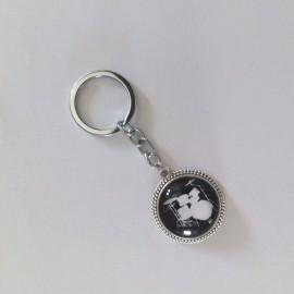 Porte clés noir batterie