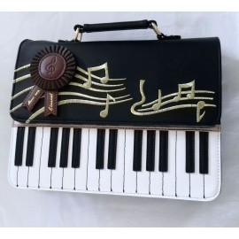 Sac à main piano couleur noir
