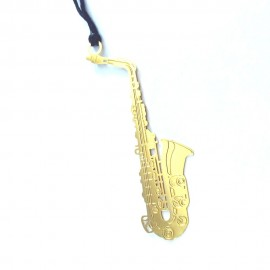 Marque page saxophone doré