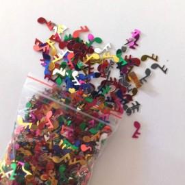 Confettis notes de musique de couleurs
