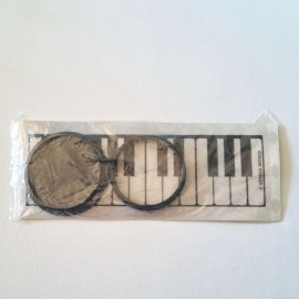 Photophore rond blanc clavier de piano