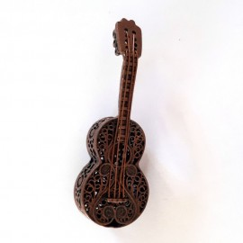 Broche forme guitare bronze