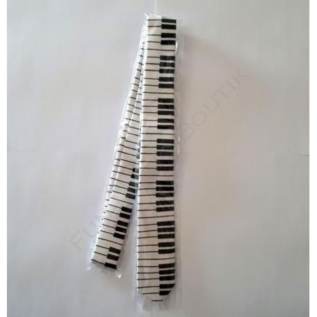 Cravate clavier de piano