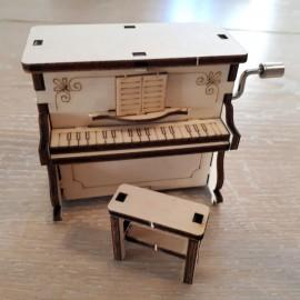 Piano boite à musique a monter soi même