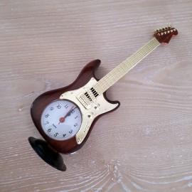 Montre forme guitare électrique marron