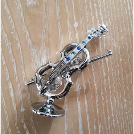 Violon argenté miniature Crystocraft