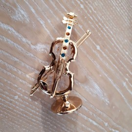 Violon doré miniature Crystocraft