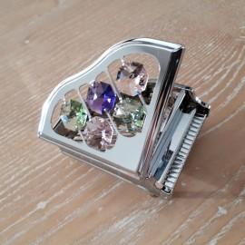 Piano a queue chromé miniature Crystocraft