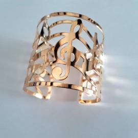 Bracelet doré note de musique
