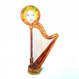 Harpe fantaisie avec tête d'Ange aimantée