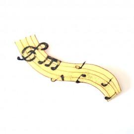 Ligne musicale clé de sol notes aimantée