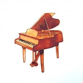 Piano a queue classique doré aimanté