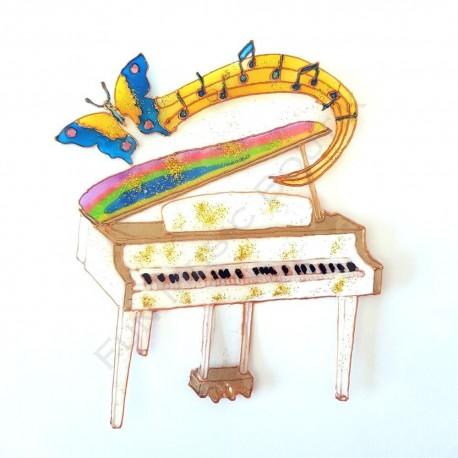 Piano a queue blanc fantaisie
