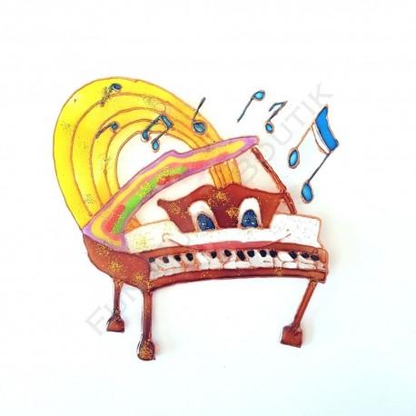 Magnet piano a queue fantaisie rigolo