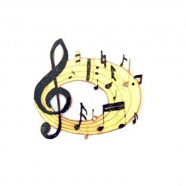 Portée de musique ronde magnet