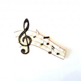Petite portée musicale magnétique