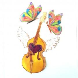 Violoncelle magnétique fantaisie ailes d'ange
