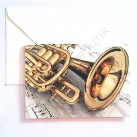 Carte de vœux Trompette