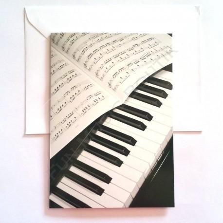 Carte de vœux Piano