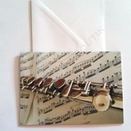 Carte de vœux Flûte traversière