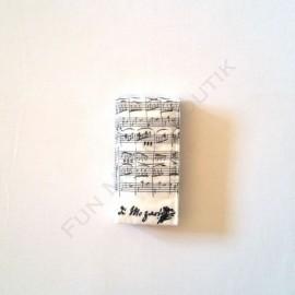 Mouchoirs en papier Notes de musique