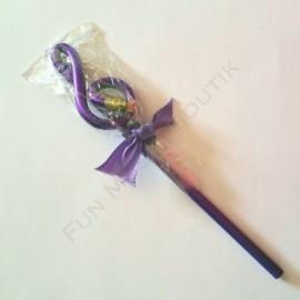 Crayon gris clé de sol Violet avec gomme