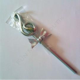 Crayon gris clé de sol Argent avec gomme