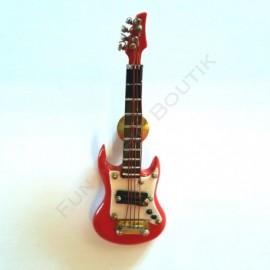 Pins guitare électrique rouge miniature