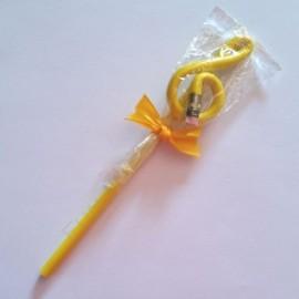 Crayon gris clé de sol Jaune avec gomme